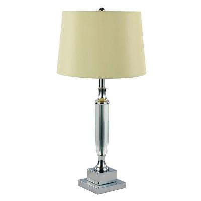 24 in. Polished Chrome Table Lamp with Fabric Shade
