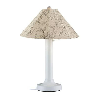 Catalina 34 in. Outdoor White Table Lamp with Bessemer Shade