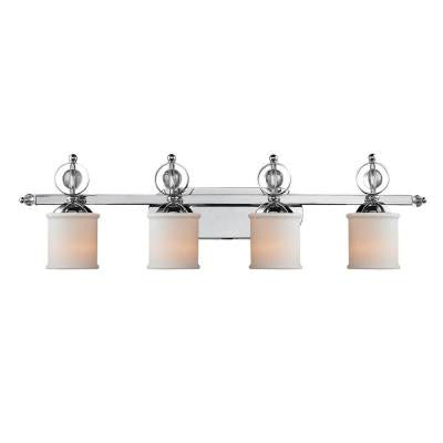 Soray Collection 4-Light Chrome Bath Vanity Light
