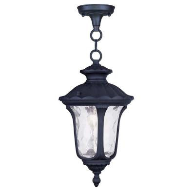 Providence 1-Light Hanging Outdoor Black Incandescent Lantern