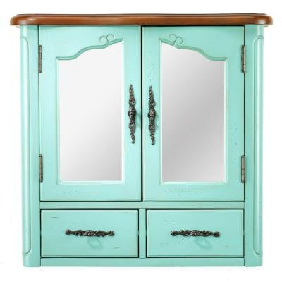 Provence 24 in. W Wall Cabinet in Blue