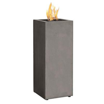 Baltic 13. in. Propane Gas Fire Pit Column in Glacier Gray