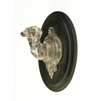 10 in. Dog Bust Wall Hook