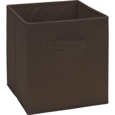 10.5 in. x 11 in. x 10.5 in. 5.25 Gal. Brown Fabric Storage Bin