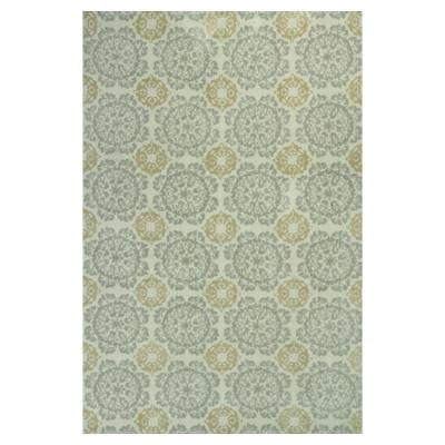 Class of Tiles Silver/Gold 5 ft. x 7 ft. Area Rug