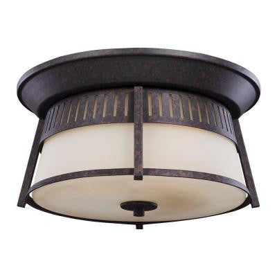 Hamilton Heights 3-Light Oxford Bronze Outdoor Ceiling Fixture
