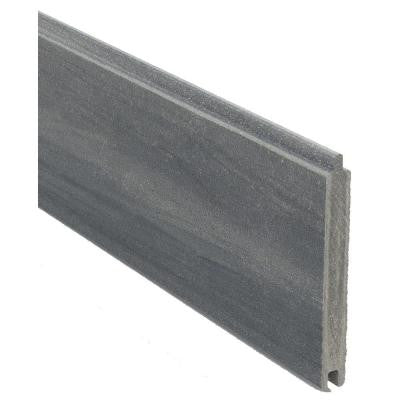 0.41 ft. x 5.91 ft. Euro Style Oxford Grey Tongue and Groove Composite Fence Board