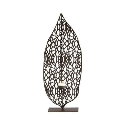 Prospect 19.5 in. Graphite Candle Holder