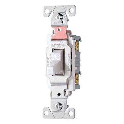 20-Amp Double Pole Premium Toggle Switch - White