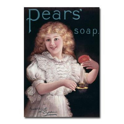 22 in. x 32 in. Pears Soap Canvas Art