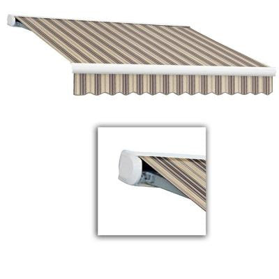 10 ft. Key West Left Motor Retractable Awning (120 in. Projection) in Taupe/Tan/Cream Multi Stripes