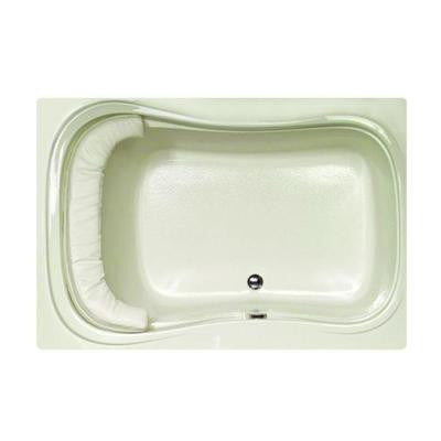 Lancing 5 ft. Reversible Drain Air Bath Tub in Biscuit
