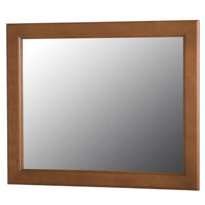 Dowsby 25.6 in. L x 31.4 in. W Wall Mirror in Toffee