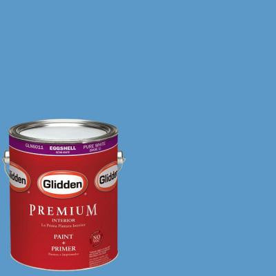 1-gal. #HDGV01 Bright Sailing Sky Blue Eggshell Latex Interior Paint with Primer