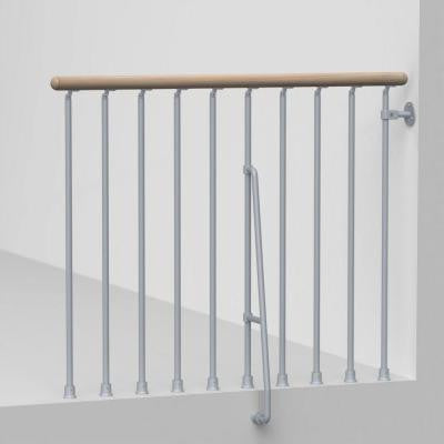 Phoenix 47 in. Grey Balcony Rail Kit