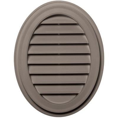 27 in. Oval Gable Vent #008 Clay