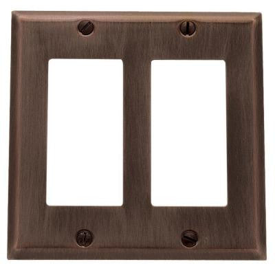 Beveled Edge 2 Rocker Wall Plate - Venetian Bronze