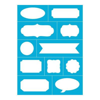 Reusable Stick on Lotsa Labels Stencil 8 in. x 11 in.