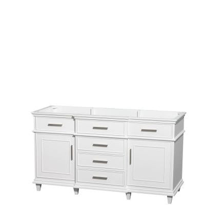 Berkeley 60 in. Vanity Cabinet Only in White