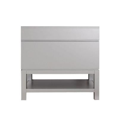 Tribeca 36 in. Vanity Cabinet Only in Chilled Gray