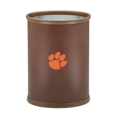 13 in. Clemson Football Texture Trash Can