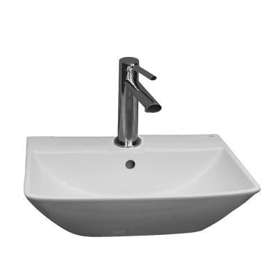 Summit 400 Wall-Hung Bathroom Sink in White