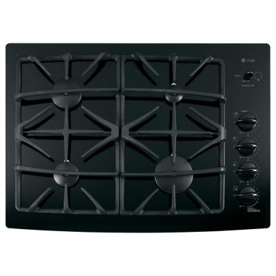 30 in. Gas Cooktop in Black with 4 Burners including Power Boil Burner
