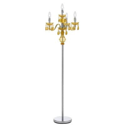 Fulton 59.5 in. Gold Chandelier Floor Lamp