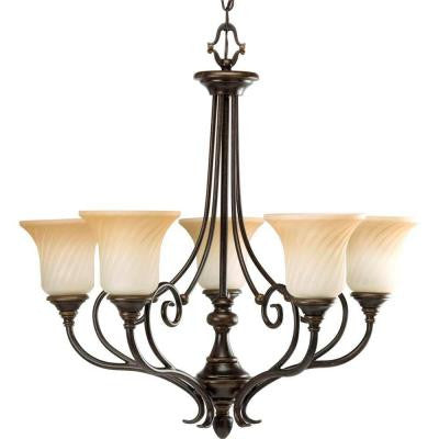 Kensington Collection 5-Light Forged Bronze Chandelier