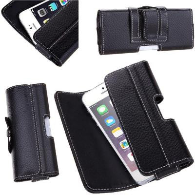 Leather Holster for Apple iPhone 6 / 6S Case - Black