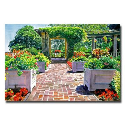 22 in. x 32 in. The Beautiful Italian Garden Canvas Art