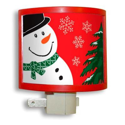 Manual Night Light with Snowman Picture Frame