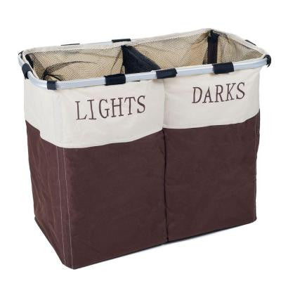 Foldable Double Laundry Hamper