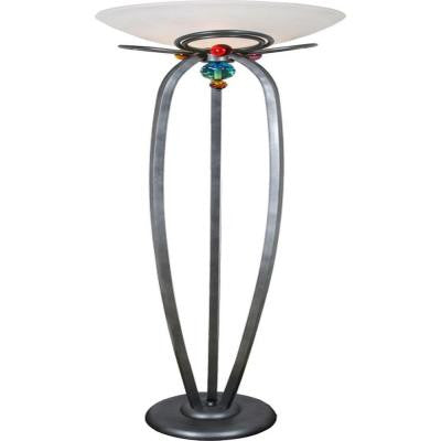 Century 72 in. Weather Steel Torchiere Lamp