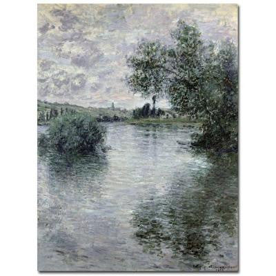 47 in. x 35 in. Seine at Vetheuil 1879 Canvas Wall Art