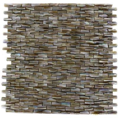 Baroque Pearl 3D Brick Pattern 12 in. x 12 in. x 8 mm Mosaic Floor and Wall Tile
