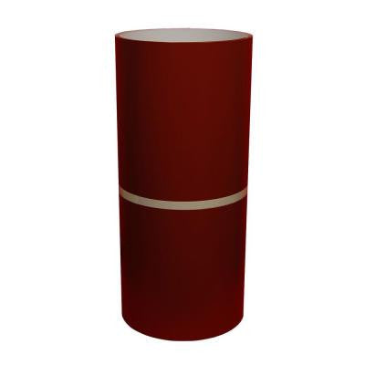 24 in. x 50 ft. Lighthouse Red and White Aluminum Trim Coil