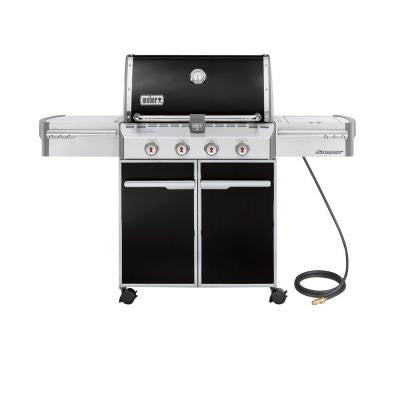 Summit E-420 4-Burner Natural Gas Grill in Black