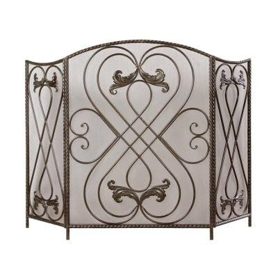 34-1/4 in. H x 50 in. W Chestnut Fireplace Screen