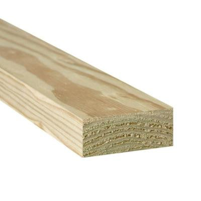 2 in. x 4 in. x 6 ft. #2 Prime Pine Pressure-Treated Lumber
