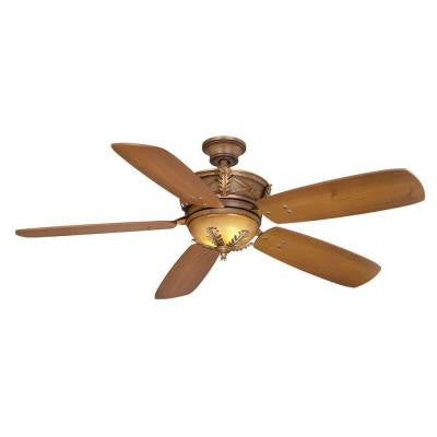 Eden Lake 54 in. Distressed Walnut Ceiling Fan