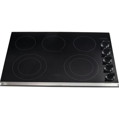 Gallery 30 in. Ceramic Glass Electric Cooktop in Black with 5 Elements Including a Warming Zone