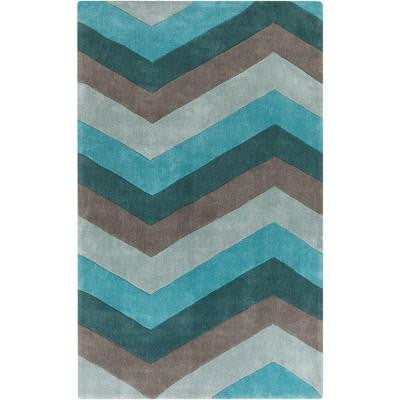 Ettelbreck Teal 3 ft. 6 in. x 5 ft. 6 in. Indoor Area Rug