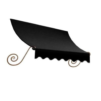16 ft. Charleston Window Awning (44 in. H x 24 in. D) in Black