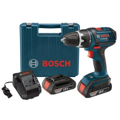 18-Volt Lithium-Ion 1/2 in. Cordless Compact Tough Drill Driver with (2) SlimPack Battery (2.0Ah) and L-Boxx2
