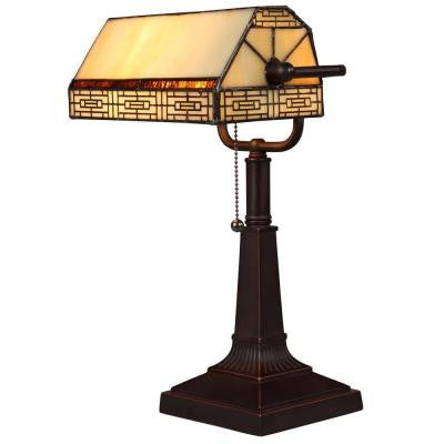 Addison Banker's 16.25 in. Oil Rubbed Bronze Desk Lamp with CFL Bulbs