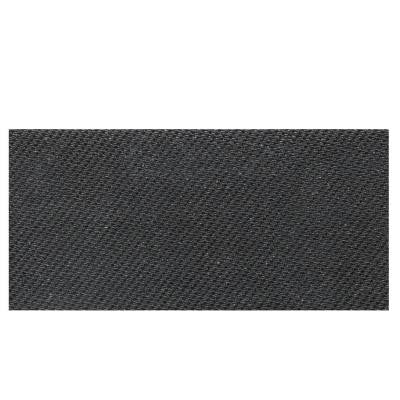 Identity Twilight Black Fabric 6 in. x 12 in. Porcelain Cove Base Floor and Wall Tile
