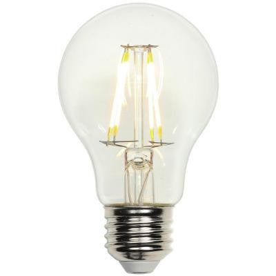 40W Equivalent Soft White A19 Medium Base Dimmable Filament LED Light Bulb