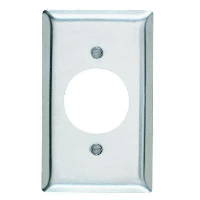 1-Gang 1 Power Outlet Wall Plate - Stainless Steel