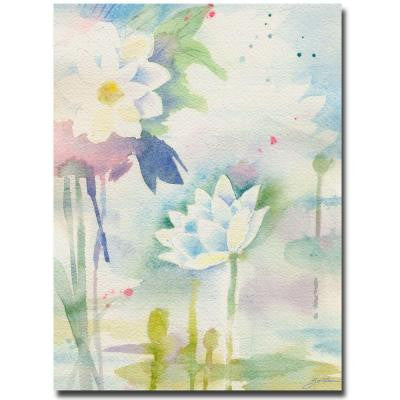 24 in. x 32 in. White Lotus Canvas Art